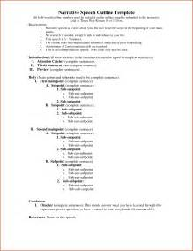 Informative Speech Outline Template by Informative Speech Outline Template Speech Outline Exle