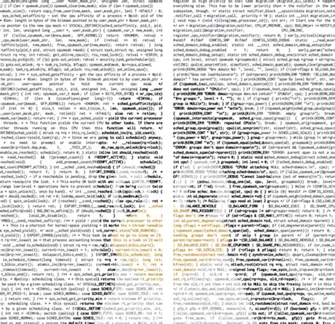 Art To Decorate Your Home a wall poster made with linux source code
