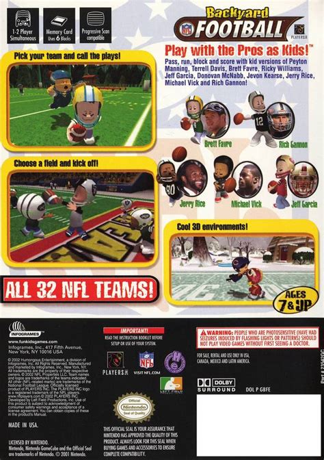 Backyard Football Cheats by Gamespace11box Gamerankings