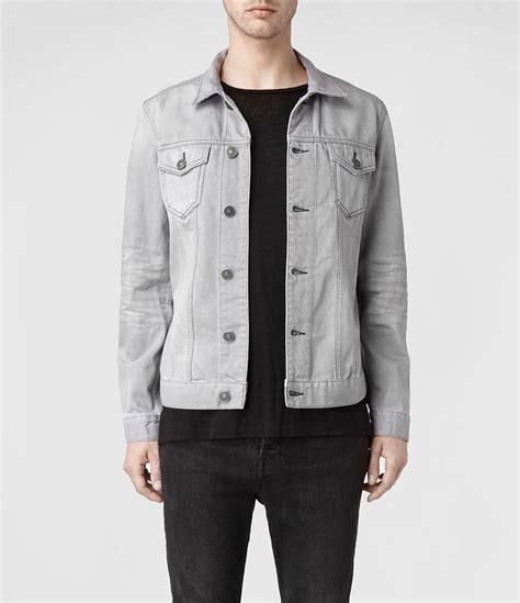 light grey denim jacket allsaints shadow denim jacket where to buy how to wear