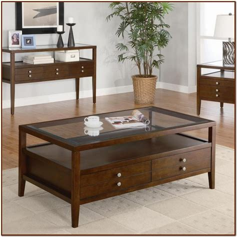 Glass Storage Coffee Table Glass Top Coffee Table Ideas For Coffee