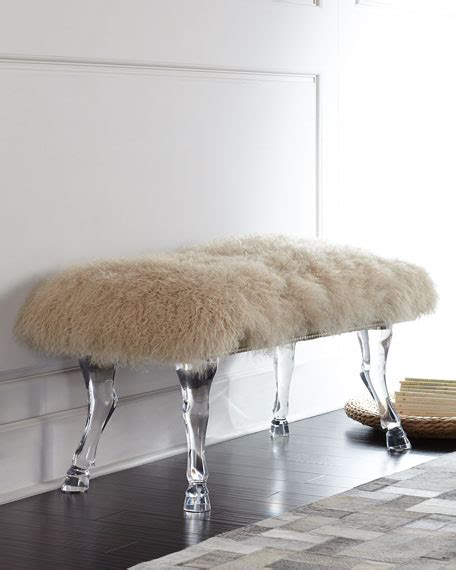 sheepskin bench massoud centaur chagne sheepskin bench