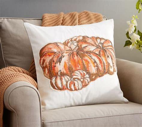 Pottery Barn Pumpkin Pillow by Harvest Pumpkin Applique Pillow Cover Pottery Barn