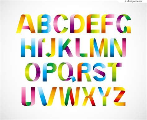 vector design font download 4 designer color letters design vector material