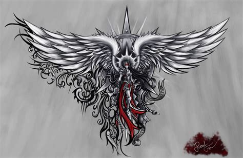 angel tattoo by patrike on deviantart