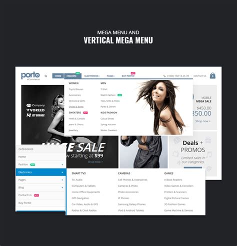 drupal theme vertical menu porto ultimate responsive drupal 7 8 theme by refaktor