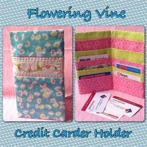 card holder pattern sewing free sewing pattern flowering vine credit card holder
