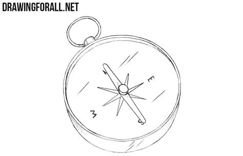 How To Draw A Compass how to draw a compass drawingforall net