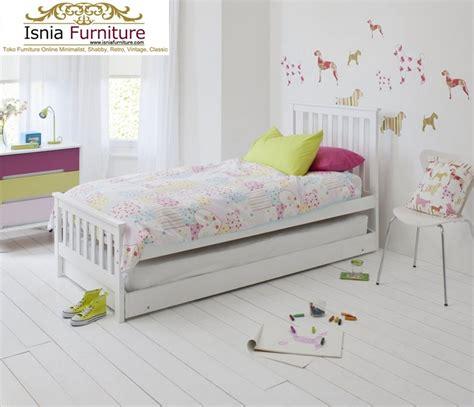 Tempat Tidur Bahan Kayu jual tempat tidur sorong modern bahan kayu solid harga