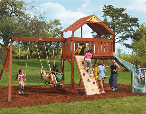 big backyard swing swing set plans bayside wooden swing set from big