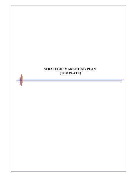 Strategic Marketing Plan Template Tactical Marketing Plan Template