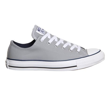 Converse All Navy Grey Black converse all low leather grey navy unisex sports