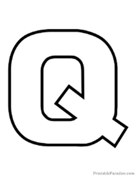 Printable Letters - Print Outline Bubble Letters Q Bubble Letter