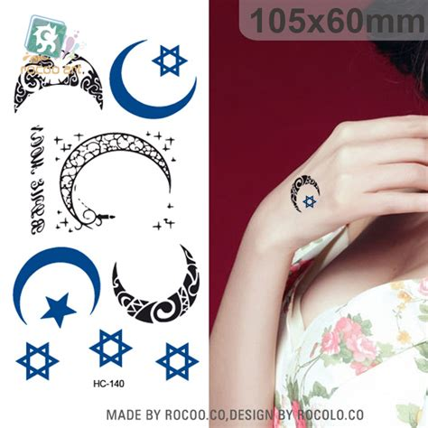 tato temporer bintang bintang bulan tato promotion shop for promotional bintang