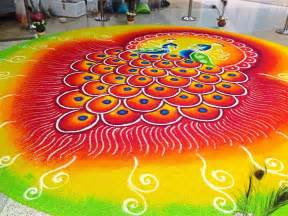 Top Home Design Trends For 2016 Top 50 Latest Best Beautiful Easy Peacock Rangoli Design