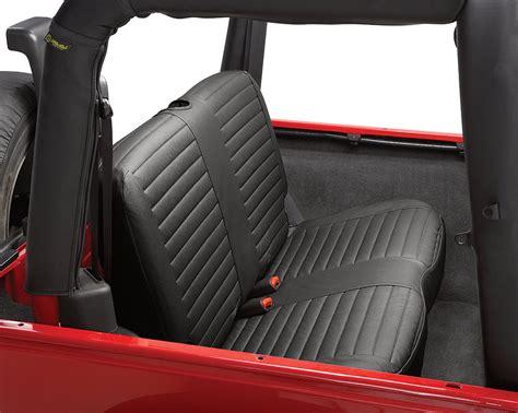 Jeep Wrangler Tj Seats Bestop 174 29229 35 Rear Bench Seat Cover In Black