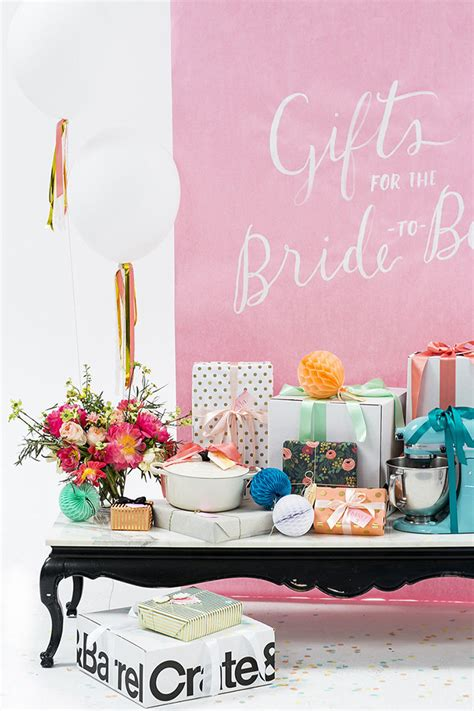Bridal Shower Gifts For bridal shower gift table ideas crate and barrel