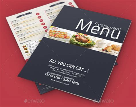 free menu card templates psd 40 effective psd restaurant menu design templates web