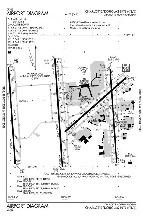 airport diagram file clt airport diagram png wikimedia commons