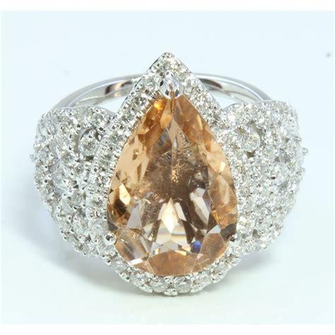 14k white gold ring 9 09gram 1 05ct imperial topaz
