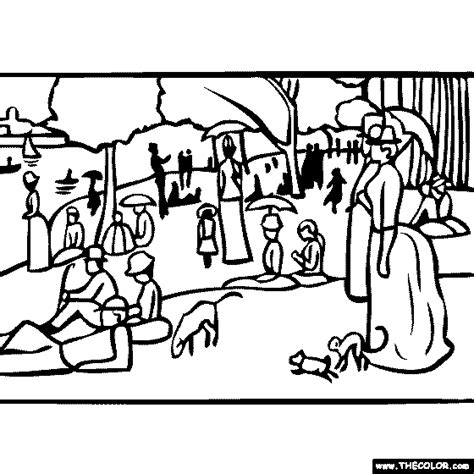 Seurat Coloring Pages free seurat coloring pages