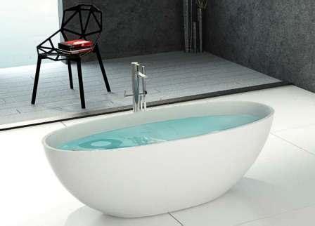freistehende badewanne corian freistehende badewanne 180 in mattstone