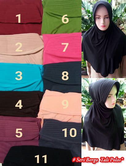 Restok Bergo Polos Jilbab Instan Polos jilbab bergo tali polos sentral grosir jilbab kerudung