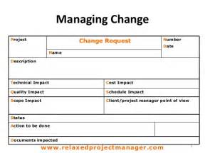 Change Management Form Template by Change Request Form
