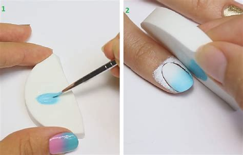 ombre nail art tutorial using acrylic paint tutorial nail art design 4 easiest ways to do ombre