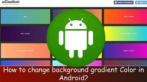 wallpaper android studio how to set background gradient color in android android