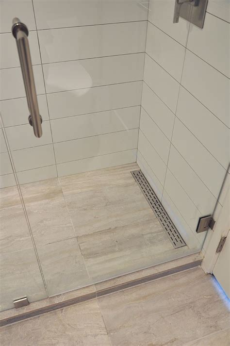 Linear shower floor drain    Remodeling Ideas in 2019