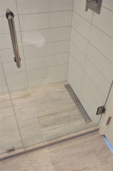 Linear shower floor drain    Remodeling Ideas in 2019