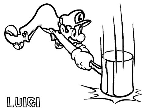 Coloring Page To Print by Free Printable Luigi Coloring Pages For