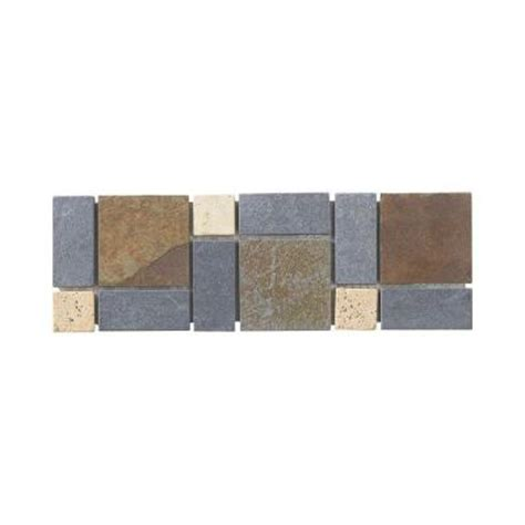 1 Inch Thick Slate Floor Hearth - jeffrey court charcoal 4 in x 12 in x 8 mm slate wall