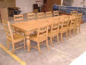 made pine dining table and ladder back chairs by