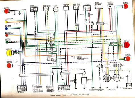 1974 honda xl 100 wiring diagram free wiring
