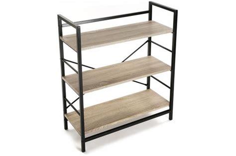 etagere noir et bois etag 232 re bois et m 233 tal noir valeria etag 232 re pas cher