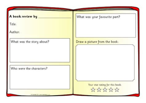 book template ks1 book review writing frame templates sb4295 sparklebox