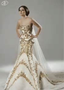 white gold wedding dresses white and gold wedding gown wedding dress