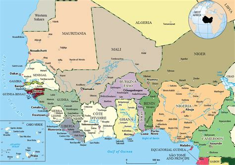 map of west africa political map of west africa
