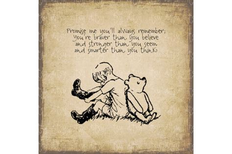 printable transfer quotes winnie the pooh quote promise me digital image quote