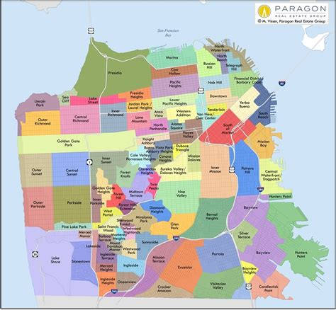 san francisco map districts districts in san francisco map