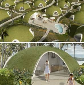 pod houses binishells green pods reinvent retro cool housing shapes