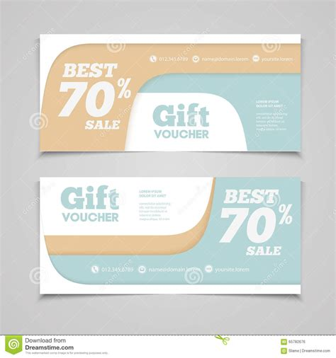Hotel Gift Voucher Letter Format Two Coupon Voucher Design Gift Voucher Template With Amount Of Stock Vector Image 65782676