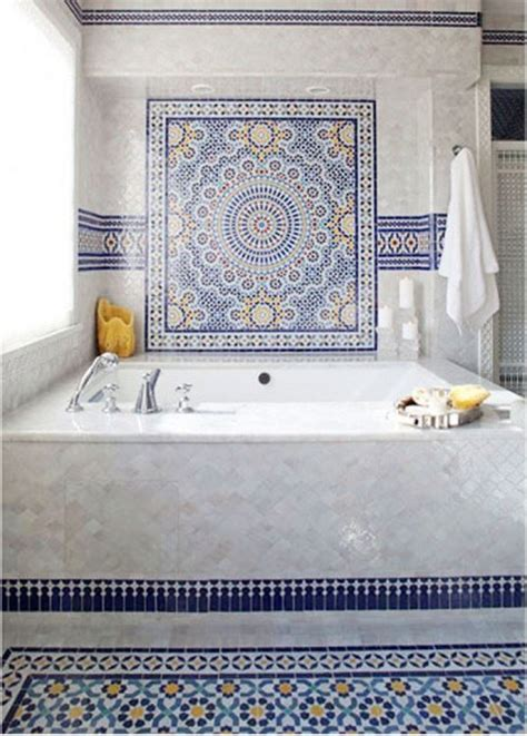 bathroom mosaic tiles blue moroccan mosaic tile bathroom in cape cod