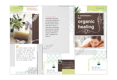massage brochure sle ideas