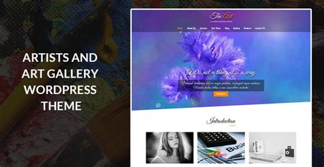 themes wordpress artist best of the art gallery and antiques wordpress themes for