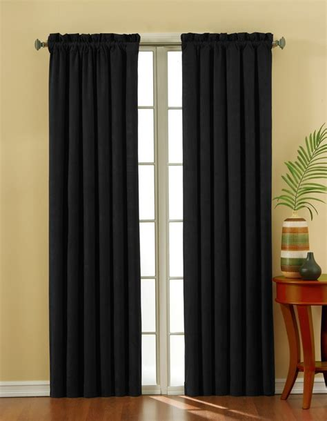 door and window curtains design decorations simple plain black curtain design ideas for