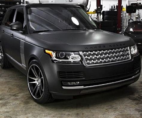 black land rover range rover matte black range rover perfection c a r s
