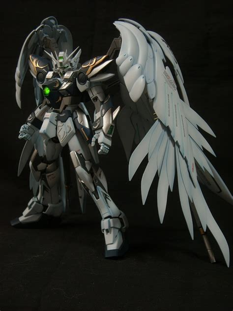 Gundam Wings Black Silver custom build mg 1 100 wing gundam zero ew gundam kits collection news and reviews